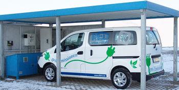 REO employee e-cars and e-station